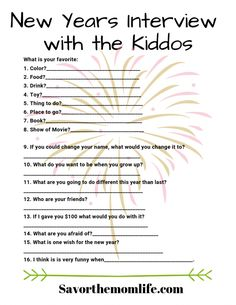 Kid-Friendly New Years Eve Traditions and Activities - Savor The Mom Life Kid Friendly New Years Eve Traditions and Activities. Get celebrating with your kids on New Years Eve. Bed time at normal time too! New Years With Kids, Family New Years Eve, New Years Eve Day, New Years Party, New Years Eve Party Ideas For Family, New Years Eve Traditions, Holiday Traditions, Family Traditions, New Year's Eve Activities