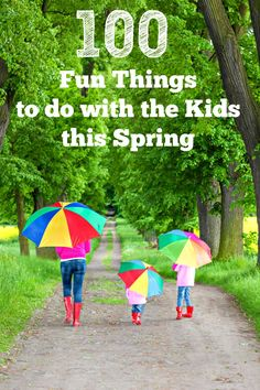 Looking for FREE and low cost indoor and outdoor Spring activities, ideas for Spring Break or a fun family Spring Bucket list? Check out this HUGE list of fun things to do with kids! Break ideas preschool 100 Fun Things to Do in Spring! Outdoor Activities For Kids, Spring Activities, Craft Activities For Kids, Family Activities, Toddler Activities, Crafts For Kids, Nature Activities, Learning Activities, Outdoor Learning