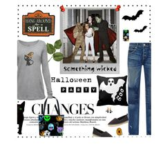 """Halloween Fashion Set"" by likepolyfashion ❤ liked on Polyvore featuring Polaroid, AMO, Cole Haan, Kerr® and Natures Jewelry"