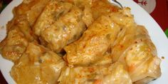 POsna sarma- cabbage rolls with veg and rice filling