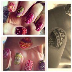 Bollywood-inspired nails
