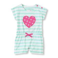 striped heart romper,  The Children's Place , EUR 21 .92