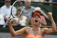 Victor: Maria Sharapova wins her second French Open title after beating Romania's Simona H...