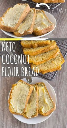 Keto coconut bread is a fantastic substitute to my regular keto bread that is nut free, gluten free and slightly lower in calories. The bread is fluffy, sliceable and totally delicious. Just make sure (Baking Eggs Dairy Free) Coconut Bread Recipe, Coconut Flour Bread, Coconut Flour Recipes Keto, Coconut Oil, Coconut Flour Tortillas, Keto Flour, Ketogenic Recipes, Low Carb Recipes, Cooking Recipes