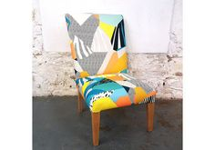 Vintage Reupholstered Tropical Chair