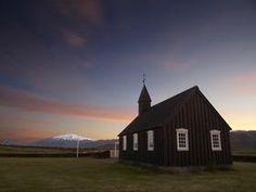 Budir Church at Dusk, Snaefellsnes Peninsula, Iceland - Professional Photos