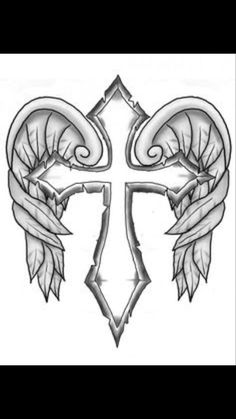 Adult Cross Coloring Pages Awesome Cross with Wings Colouring Pages Clipart Best Clipart Best Cross Coloring Page, Skull Coloring Pages, Fairy Coloring Pages, Adult Coloring Book Pages, Free Coloring Pages, Coloring Books, Cross Tattoo Designs, Tattoo Design Drawings, Cool Drawings