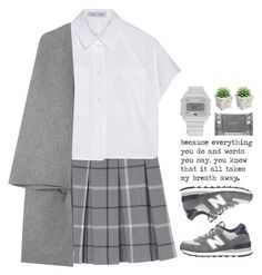 """Remember all the sadness and frustration and let it go."" by emilypondng ❤ liked on Polyvore featuring Monki, Proenza Schouler, Valentino, New Balance, adidas and Dermalogica"