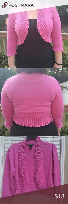 Pink cardigan Super cute and comfy pink cover up. Great to wear with dresses or tanks. Never worn and washed once! INC International Concepts Tops