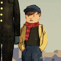 A kid in Ozu's GOOD MORNING. 小津安二郎お早ようの少年#illustration #illustrator #tatsurokiuchi #art #drawing #life #lifestyle #happy #japan #people #木内達朗 #イラスト #イラストレーション