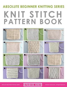 Knit Stitch Pattern Book for Absolute Beginning Knitters PDF