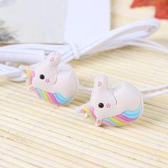 Special Unicorns Cartoon Earphones Colorful