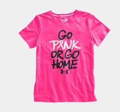Women's PIP UA Go Pink Or Go Home T-Shirt | 1232430 | Under Armour US