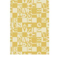 Tea Towel, Bistro, Yellow | Garnier-Thiebaut  ~  Sélection mois du blanc - Essuie-main Garnier-Thiebaut - Modèle : Bistrot - Essuie-main en coton - Coloris : jaune