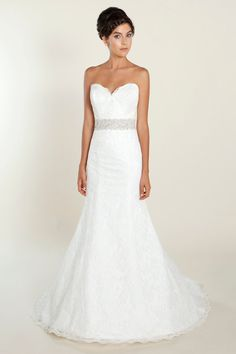 Formal Hollywood Glam Modern Romantic Shabby Chic Ivory White $$$ - $1501 to $3000 A-line Empire Fall Floor Sash/Belt Silk Sleeveless Spring Strapless Summer Sweetheart Winnie Couture Wedding Dresses Photos Pictures - WeddingWire.com