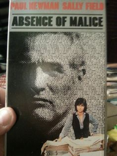 Goodwill $.89. Absence of Malice, vhs tape. Somehow I missed this in theaters and in it's endless showings on cable. Sally Field is a personal hero and Paul Newman and Melinda Dillon were nominated for Oscars and it's directed by Sidney Pollack who usually makes professional, if obvious movies. I've been grooving on early 80s films for a while now so this fits right in. PS Sally in Steel Magnolias, Soap Dish, Lincoln, Places in the Heart and Norma Rae are masterpiece performances.