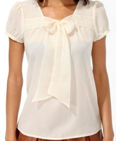 Ribbon Tie-Neck Top | FOREVER 21 - 2005758268