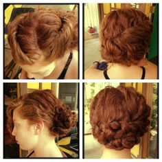 4 perfect up-dos for curly hair. For more inspired DIY hair, www.howtohairgirl.com @Olivia Hilliard