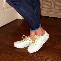 Mint green vans sneaker. a53f3d5eb