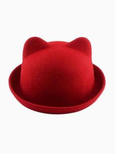 Made from wool blend;Smooth felt finishp;Domed crown and rolled brim;Cat ear design