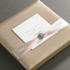 Ireland Luxury Thai Silk Wedding Invitation Boxes