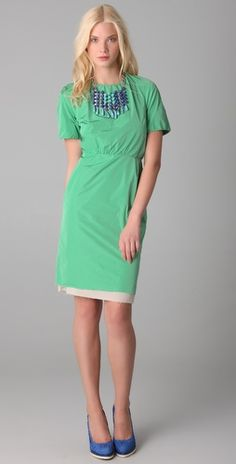 Acne LucilleTaffeta Dress - Is anybody else noticing crazy amounts of green EVERYWHERE?