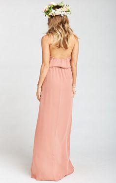 b08304cb0e2c Heather Halter Dress ~ Rustic Mauve Crisp