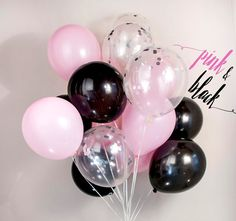 Check out this item in my Etsy shop https://www.etsy.com/listing/493957873/pink-black-confetti-balloon-wedding