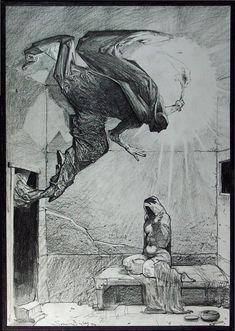 Annunciation by Simon Bisley. Ужас нечеловеческий. Дорисовался.