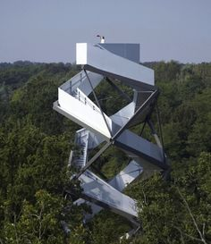 Observation Tower on the River Mur Styria, Austria. I want this as a slid lol