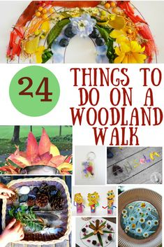 Woodworking For Kids 24 Things for kids to do with Nature on a Woodland Walk {pacific kid} - Looking for ideas for kids to do on a woodland walk? Check out our list of 24 fun things to do on a woodland walk with children. Nature walk ideas for kids! Forest School Activities, Nature Activities, Outdoor Activities For Kids, Outdoor Learning, Summer Activities, Craft Activities, Toddler Activities, Crafts For Kids, Camping Activities