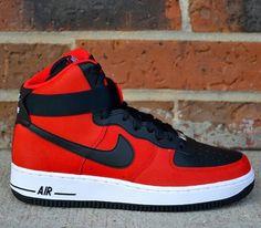 Nike Air Force 1 High–University Red-Black