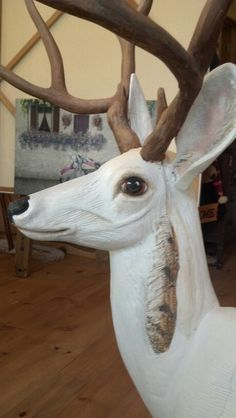 Work in progress, working on the feathers -- Idyllwild Deer Public Art Project