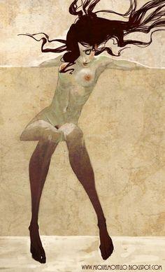 #MiquelMontlló #illustration #nudewomen  http://miquelmontllo.blogspot.com/  Quelle: darksilenceinsuburbia