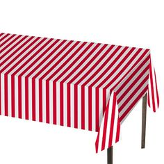Red And White Stripe Table Cover   Spritz™