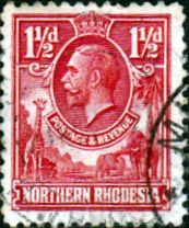 Northern Rhodesia 1925 Animals SG 2 Fine Used Scott 2 Other Rhodesian Stamps HERE