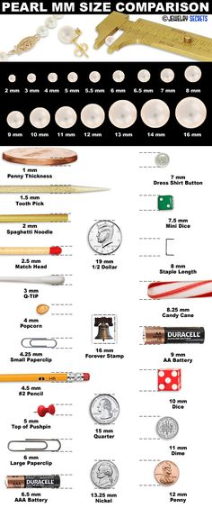 Pearl MM Size Comparison Chart! - Jewelry-Secrets.compear sizes