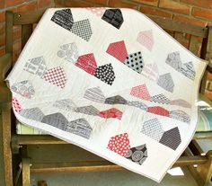 Moda Bake Shop: Charm Pack Friendly Neighborhood Charm quilt by @Debbie Grifka from Esch House Quilts