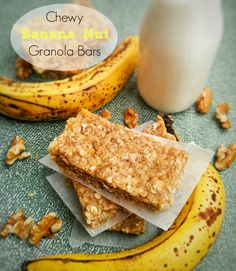 Love granola bars? Love banana bread? Want to mash the two into one? These Chewy Banana Nut Granola Bars will make you happy in hunger!