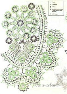 Filet Crochet, Crochet Diagram, Crochet Chart, Irish Crochet, Crochet Books, Crochet Home, Thread Crochet, Tablecloth Fabric, Crochet Tablecloth