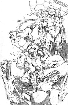 turtle POWER by MiaCabrera.deviantart.com on @deviantART