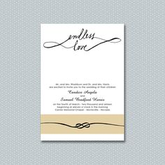 endless love infinity wedding invitation