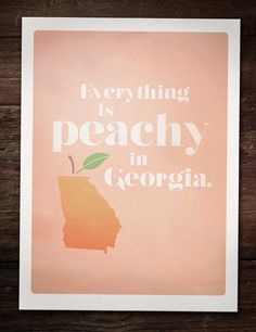 In Georgia, even the air smells like peaches.
