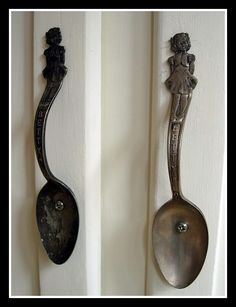 fork and spoon crafts | Spoon fork crafts / spoon door pulls