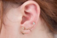 SHOP OPENING SALE constellation ear cuff with by MilkyPeachshop