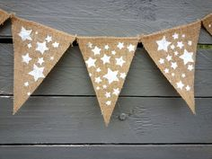 Stars glittered banner Burlap by MirtilloShop, $18.00