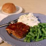 This meal always puts me back around my childhood dinner table. Meatloaf, some green beans, mashed potatoes and rolls were pretty much a weekly staple meal. I combine my family's recipe with my mother-in-law's serving method and put it in the slow cooker. Now get your family around the table and enjoy!