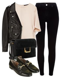 A fashion look from July 2016 featuring long sleeve shirts, real leather jackets and tall jeans. Browse and shop related looks. Edgy Outfits, Classy Outfits, Cute Outfits, Fashion Outfits, Womens Fashion, Preppy Mode, Preppy Style, My Style, Polyvore Outfits