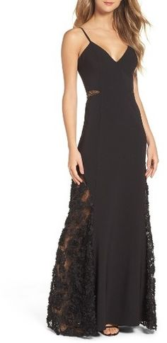 Women's Maria Bianca Nero Shannon Lace Inset Gown