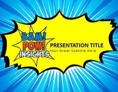 Check out new work on my behance portfolio powerpoint pop art inspired powerpoint template for bam toneelgroepblik Gallery